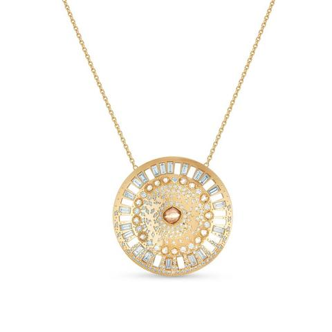 Talisman Winter medal in yellow gold 55 cm