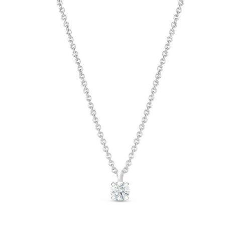 DB Classic鉑金0.20克拉圓形鑽石吊墜項鍊