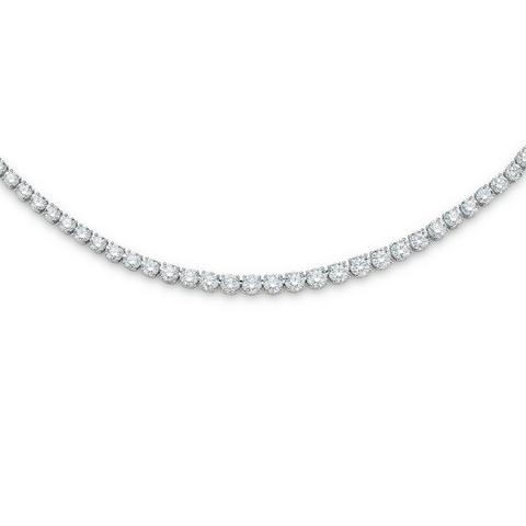 DB Classic eternity line round brilliant diamonds necklace 42 cm