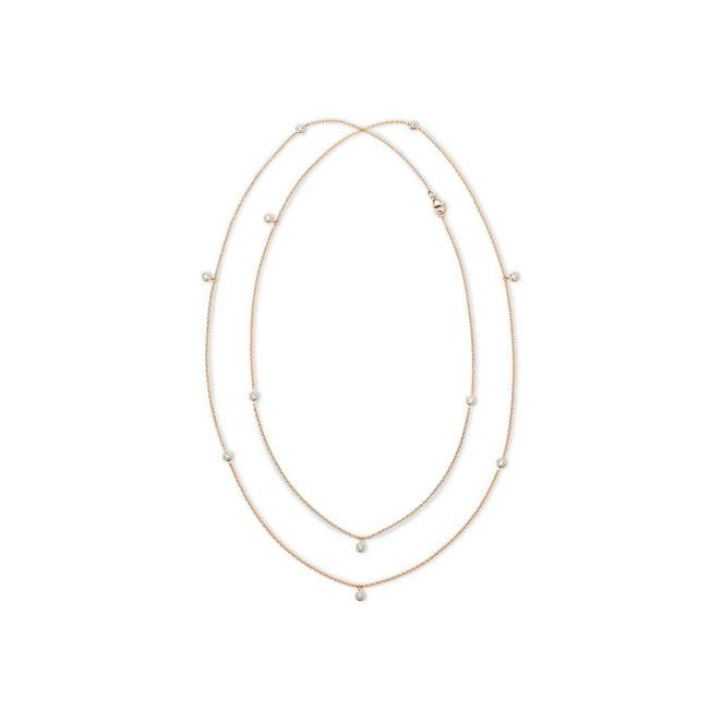 Clea long necklace in rose gold