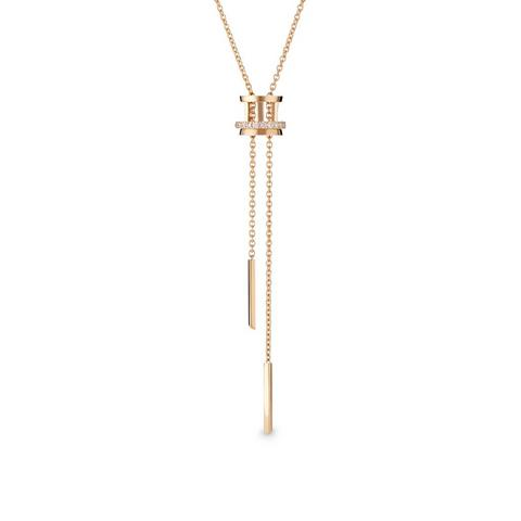 Horizon necklace in rose gold