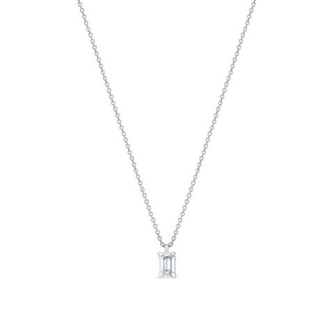DB Classic emerald-cut diamond pendant