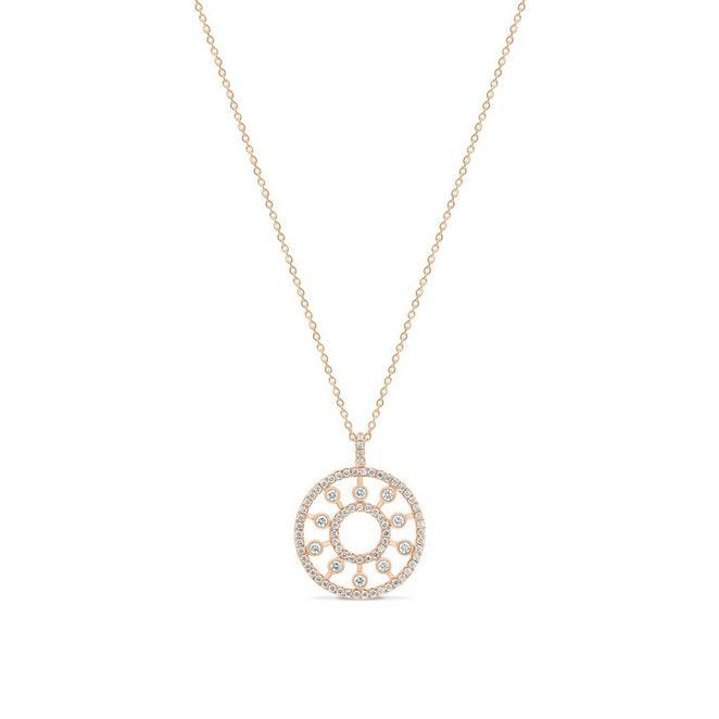 Dewdrop medallion in rose gold