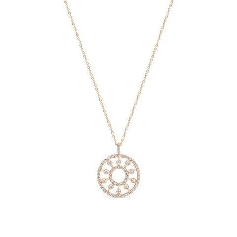 Dewdrop Medallion 玫瑰金钻石项链