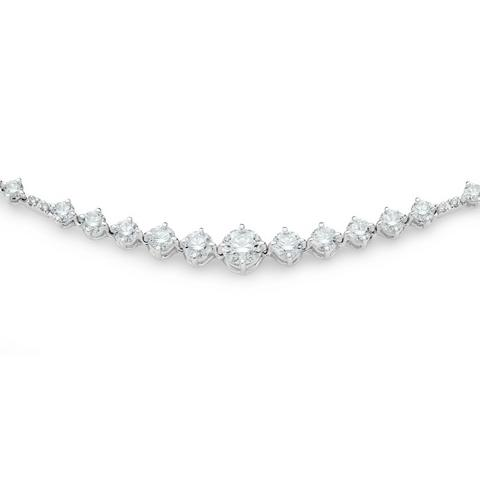 Arpeggia choker & headband in white gold
