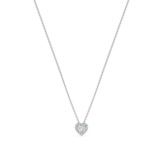Aura 白金心形鑽石吊墜項鍊