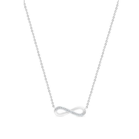Infinity necklace in white gold