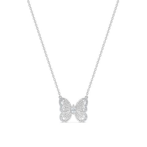 Butterfly 白金鑽石吊墜項鍊