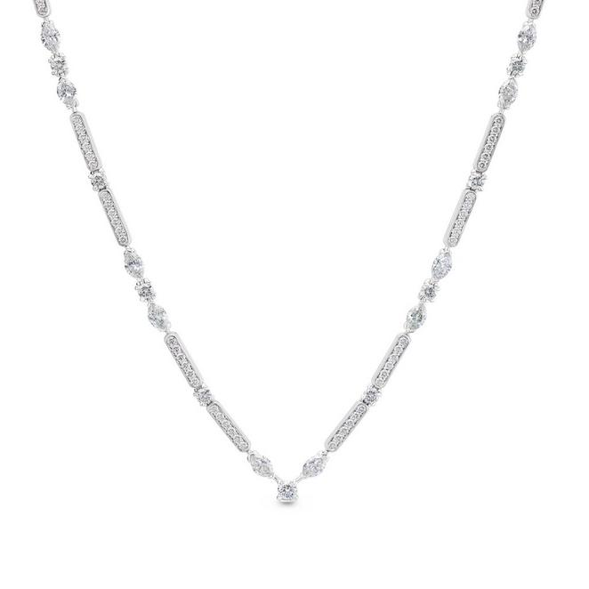 Snow Dance Necklace in white gold