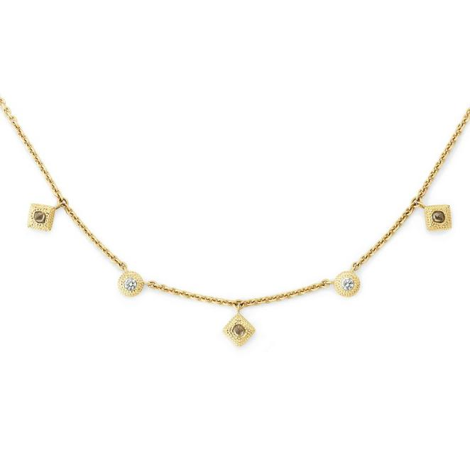 Talisman charm necklace in yellow gold
