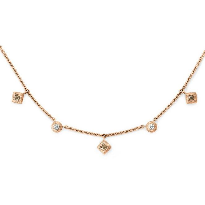 Talisman charm necklace in rose gold