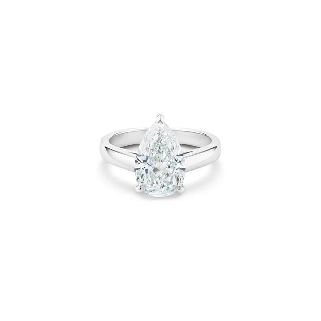 Solitaire DB Classic diamant taille poire