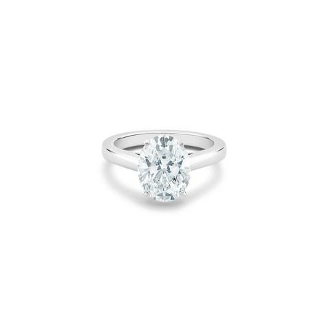 Solitaire DBClassic diamant taille ovale