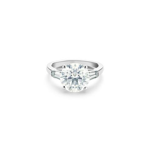 DB Classic round brilliant and tapered diamond ring