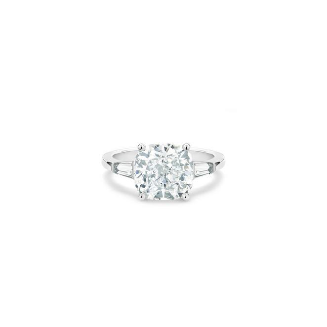 DB Classic cushion-cut and tapered diamond ring