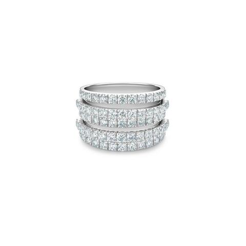 Bague DB Classic cinq rangs en or blanc