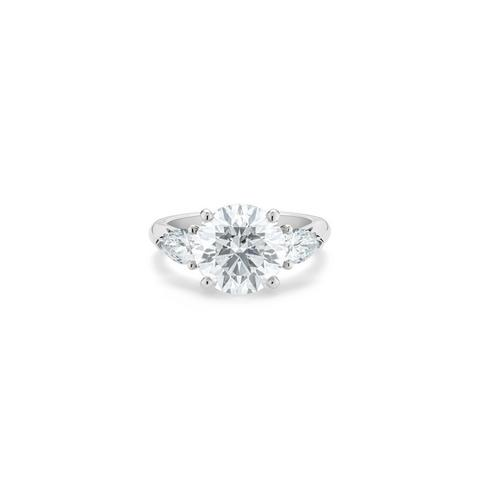 DB Classic round brilliant and pear-shaped diamond ring