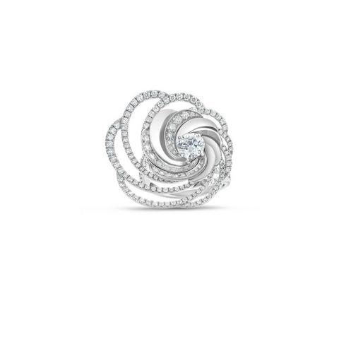 Aria ring in white gold