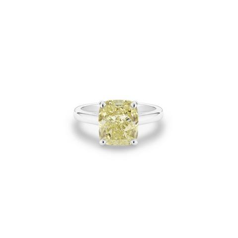 DB Classic fancy yellow cushion-cut diamond ring