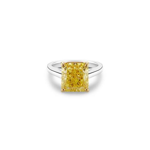 DB Classic fancy yellow radiant-cut diamond ring