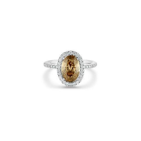 Aura橢圓形彩鑽戒指
