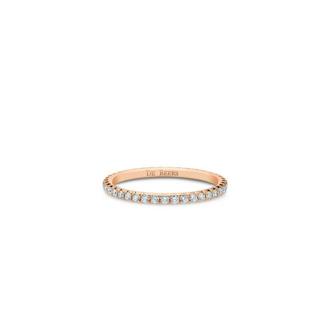 Aura eternity band in rose gold
