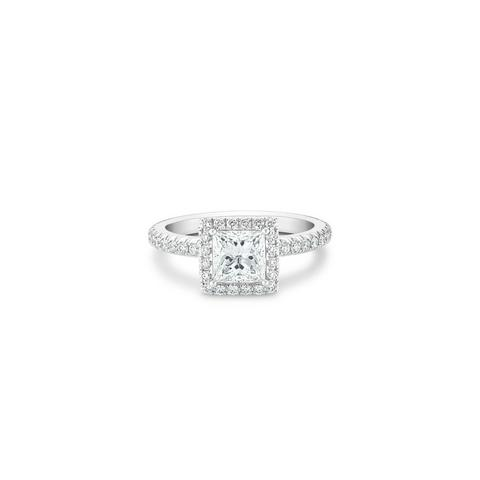 Aura princess-cut diamond ring