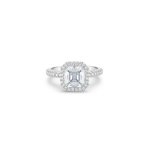 Aura asscher-cut diamond ring