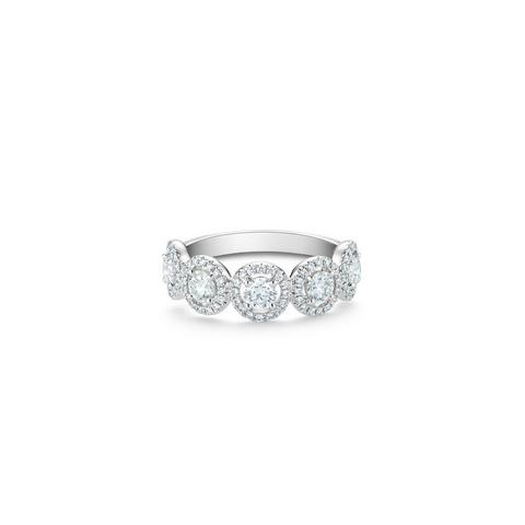 Aura half eternity band in platinum