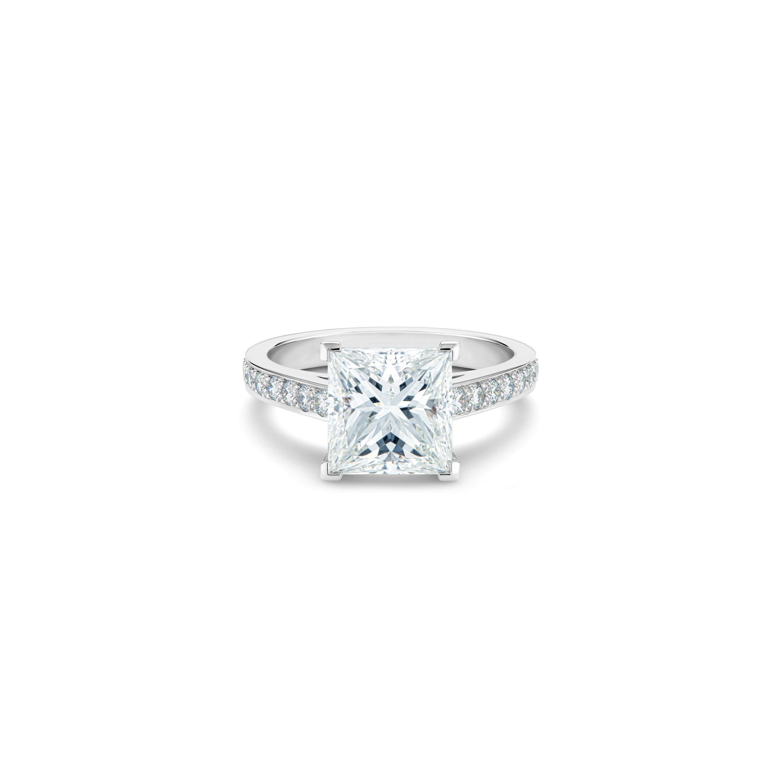 Old Bond Street princess-cut diamond ring   De Beers US