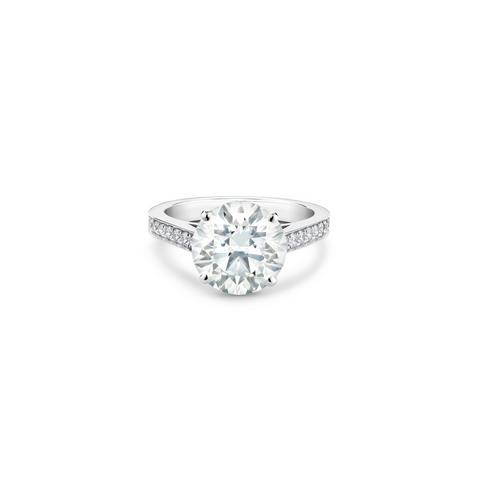 Old Bond Street round brilliant diamond ring