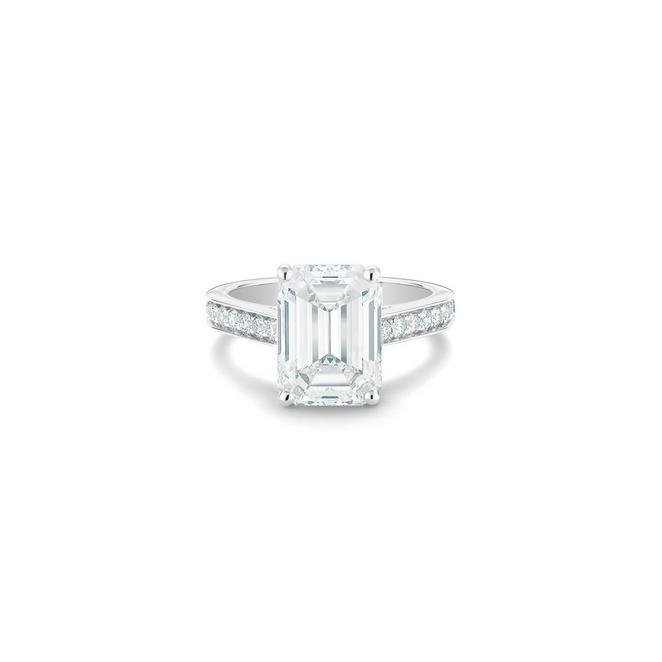 Old Bond Street emerald-cut diamond ring