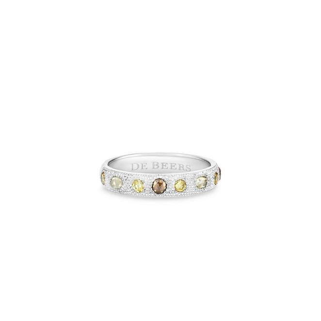 Bague Talisman fine en or blanc