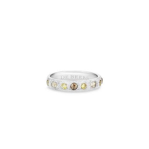 Bague Talisman small en or blanc