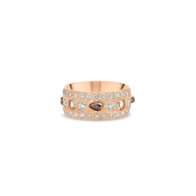 Talisman large band in rose gold