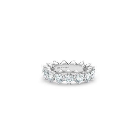 Allegria large eternity band in platinum