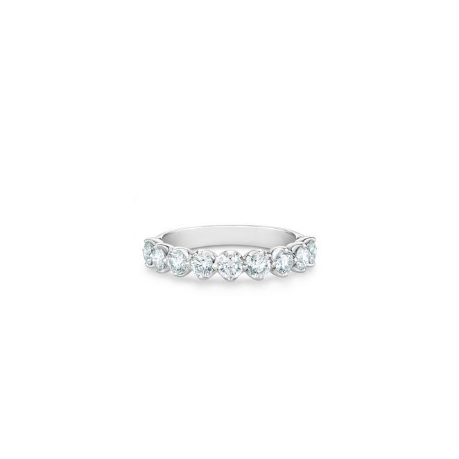 Allegria small half eternity band in platinum