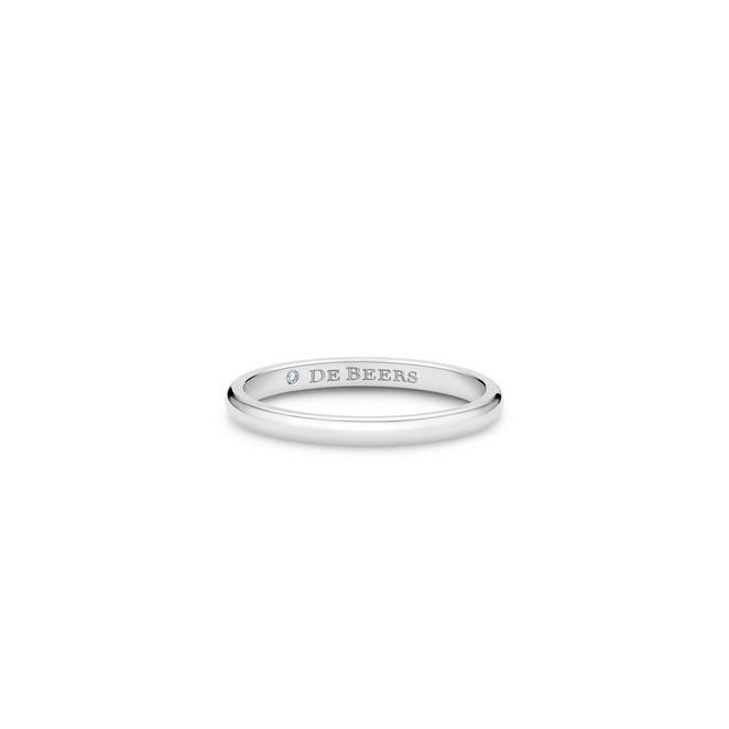 DB Classic鉑金戒指(2mm)