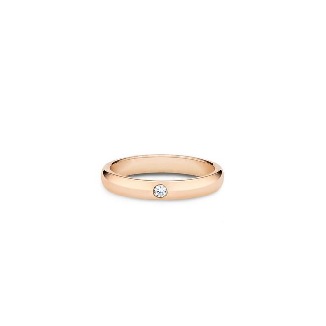 DB Classic one diamond band in rose gold