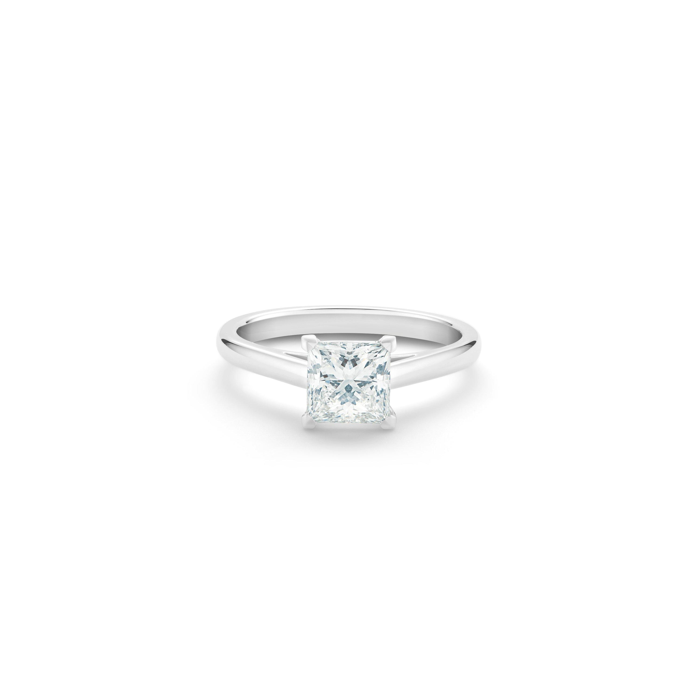 Db Classic Princess Cut Diamond Ring De Beers Uk