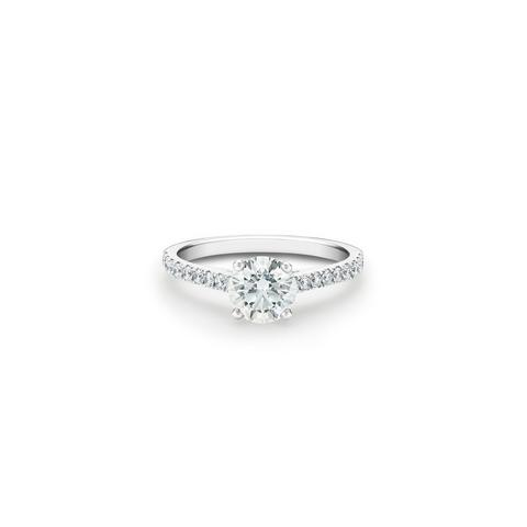 DB Classic Pavé round brilliant diamond ring