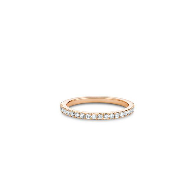 DB Classic half eternity band in rose gold