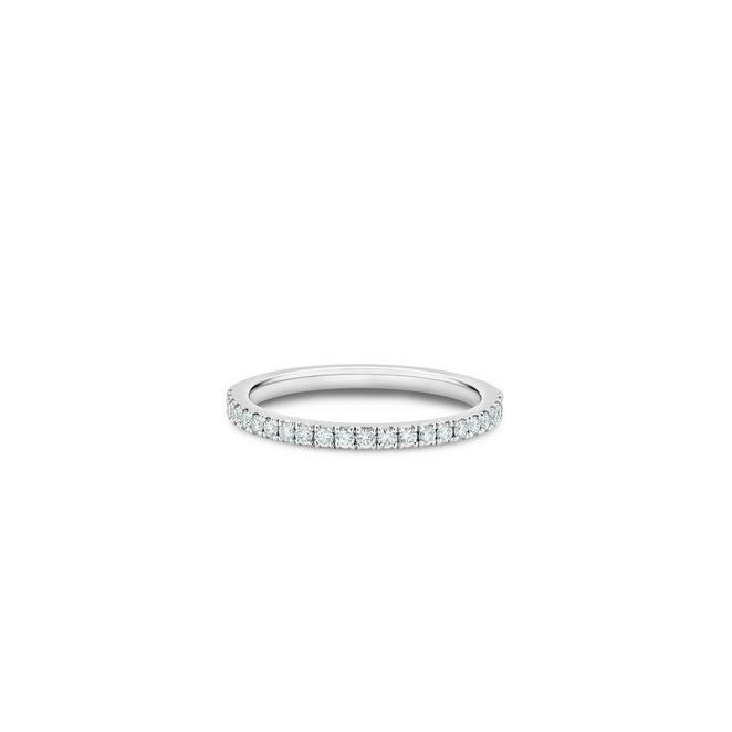 DB Classic half eternity band in platinum