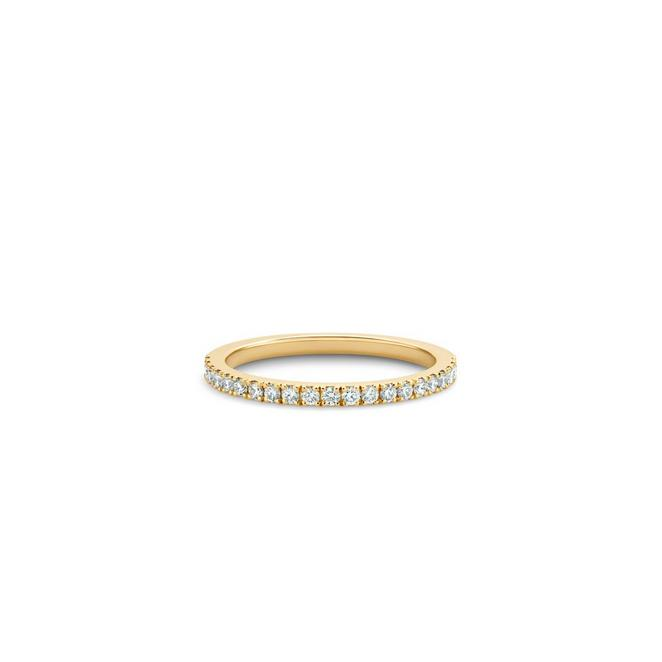 DB Classic half eternity band in yellow gold