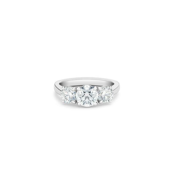 Solitaire DB Classic Trio diamants taille brillant