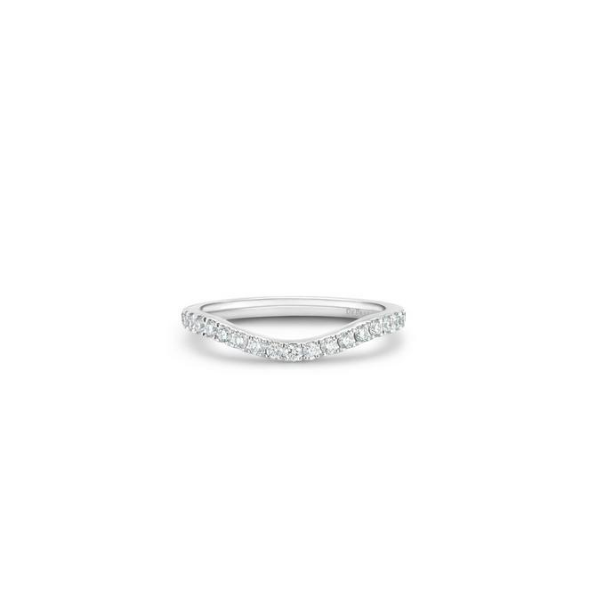 DB Classic half eternity shaped band in platinum