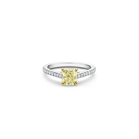 DB Classic Pavé fancy colour radiant-cut diamond ring