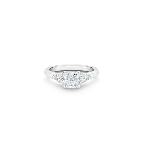 DB Classic cushion-cut and pear-shaped diamond ring