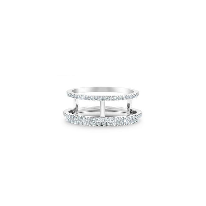 Horizon full pavé band in white gold