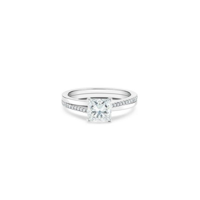 Solitaire The Promise diamant taille princesse